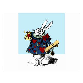 Love the White Rabbit Alice in Wonderland Postcard
