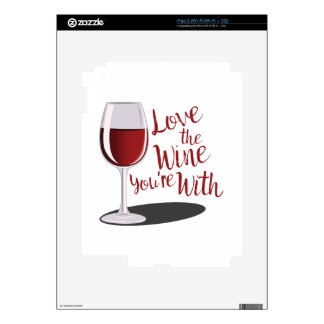 Love The Wine Decals For iPad 2