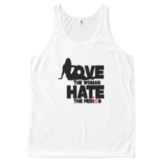 Love the Woman Hate the Period All-Over Print Tank Top