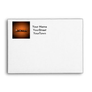 Love, the word in a machine style envelopes