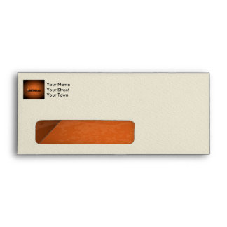 Love, the word in a machine style envelope