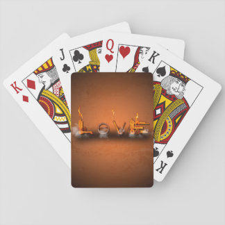 Love, the word in a machine style deck of cards