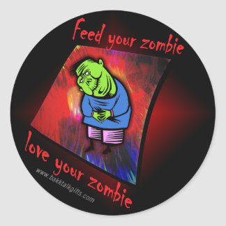 Love the Zombie... Classic Round Sticker