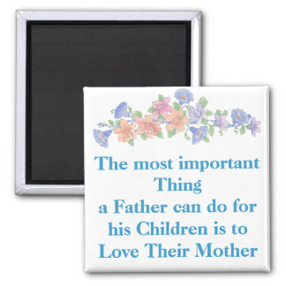 Love Their Mother 2 Inch Square Magnet