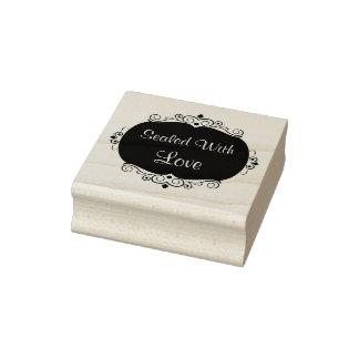 Love Theme Emblem Rubber Stamp