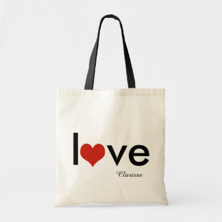 love theme personalized tote bag