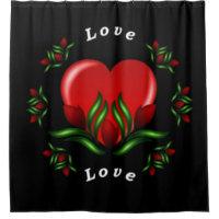 Love Theme Shower Curtain
