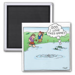 Love This Game 2 Inch Square Magnet