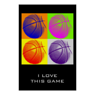 Love This Game Goals Achievement Basketball Poster