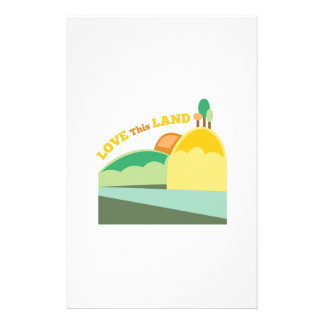 Love This Land Stationery Design
