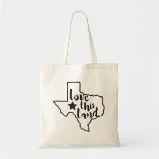 Love This Land Texas Tote - Black Budget Tote Bag