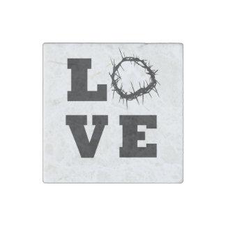 Love Thorns Stone Magnet
