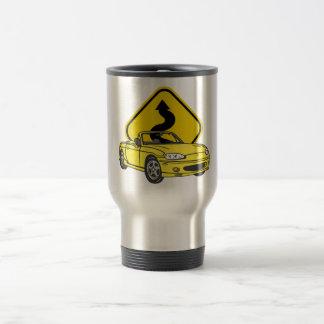 Love those Curves!-Yellow 15 Oz Stainless Steel Travel Mug