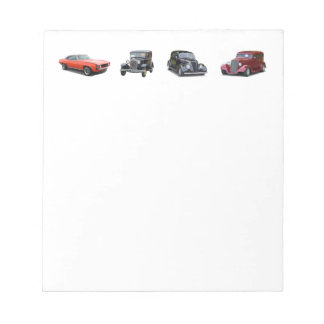 love those old classic cars notepad