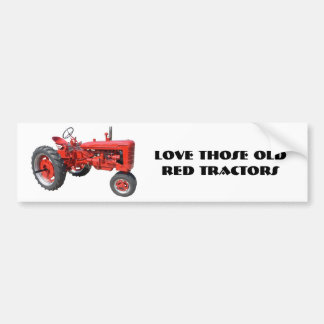 Love Those Old Red Tractors Car Bumper Sticker