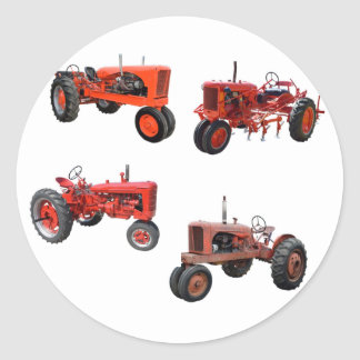 Love Those Old Red Tractors Classic Round Sticker