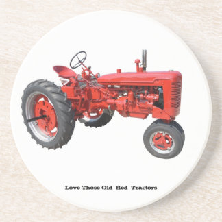 Love Those Old  Red  Tractors Drink Coaster