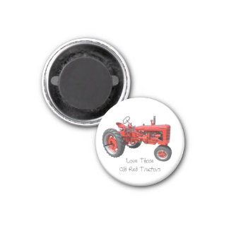 Love Those Old Red Tractors Magnet