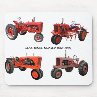Love Those Old Red Tractors Mouse Pad