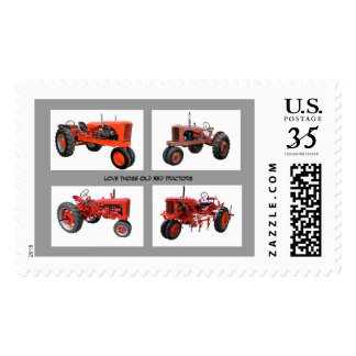 Love Those Old Red Tractors Postage