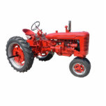 love those old red tractors standing photo sculpture