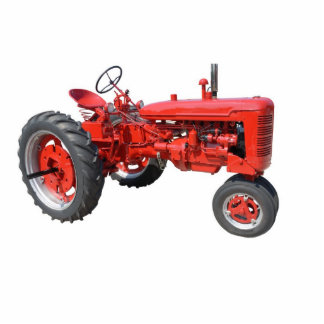 love those old red tractors statuette