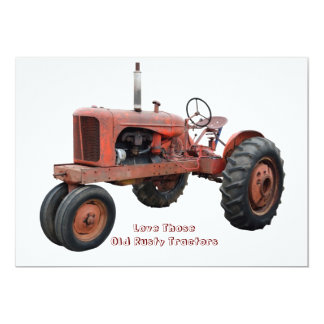 Love Those Old Rusty Tractors Card