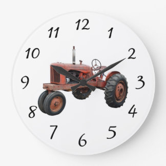 Love Those Old Rusty Tractors Large Clock