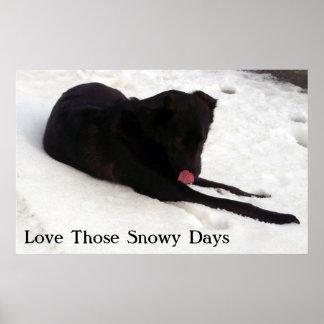 Love Those Snowy Days Print