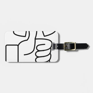 Love Thumbs Up Luggage Tag