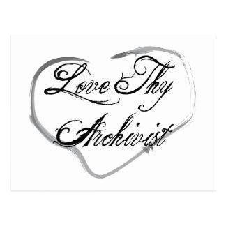 Love Thy Archivist Postcard