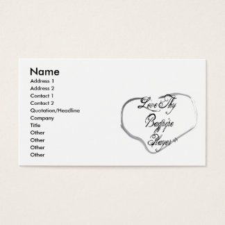 Love Thy Bagpipe Player Business Card