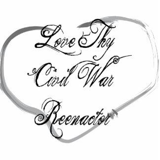 Love Thy Civil War Reenactor Photo Sculpture Ornament