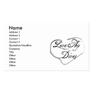 Love Thy Diver Double-Sided Standard Business Cards (Pack Of 100)