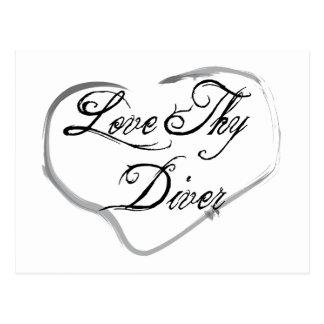 Love Thy Diver Postcard