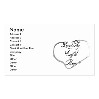 Love Thy English Major Double-Sided Standard Business Cards (Pack Of 100)