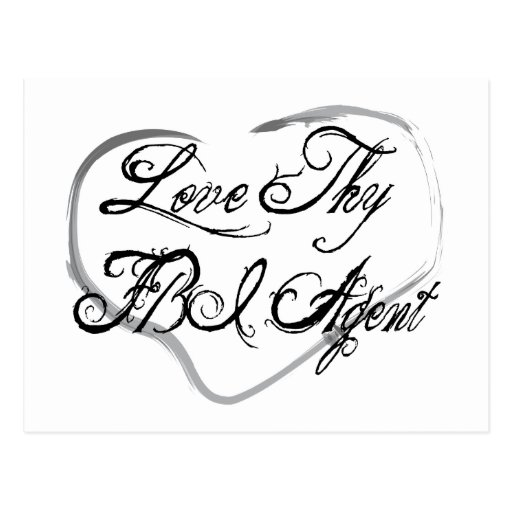 Love Thy FBI Agent Postcard