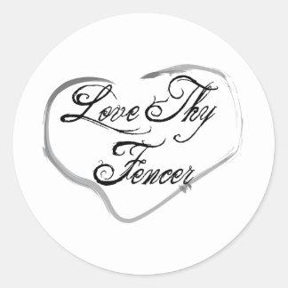 Love Thy Fencer Classic Round Sticker