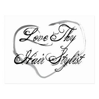 Love Thy Hair Stylist Postcard
