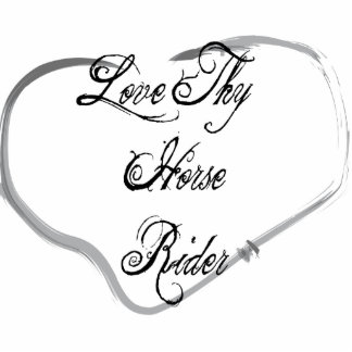 Love Thy Horse Rider Photo Sculpture Ornament