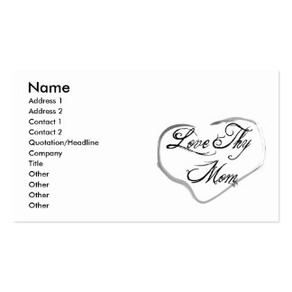 Love Thy Mom Double-Sided Standard Business Cards (Pack Of 100)
