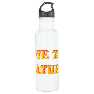 Love thy nature 3-D Text Bottle 24oz Water Bottle