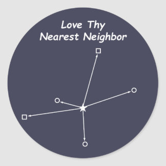 Love Thy Nearest Neighbor Classic Round Sticker