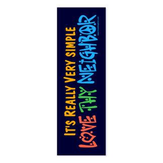 Love Thy Neighbor Bookmark - Business Card