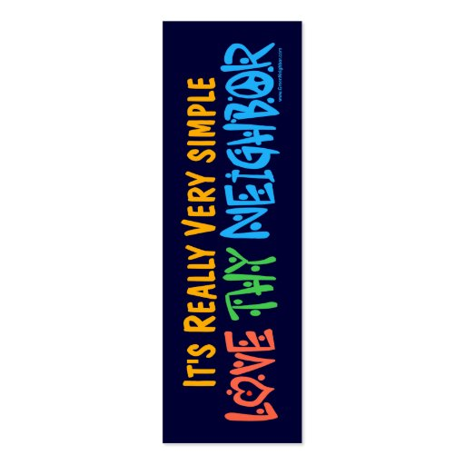 Love Thy Neighbor Bookmark Mini Business Card