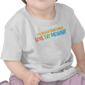 Love Thy Neighbor - Heart, Peace Sign Shirt