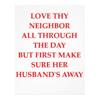 love thy neighbor letterhead