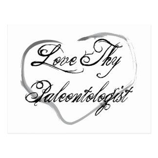 Love Thy Paleontologist Postcard