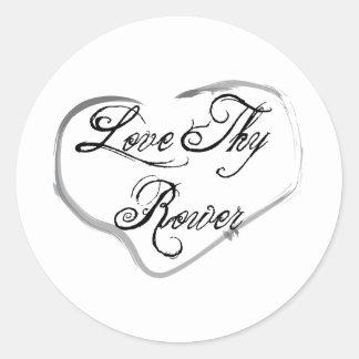 Love Thy Rower Round Sticker