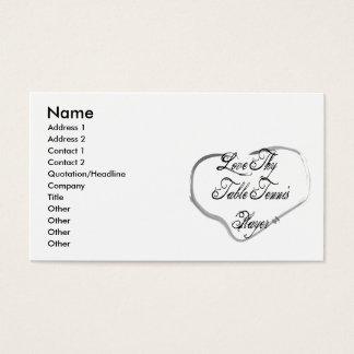 Love Thy Table Tennis Player Business Card